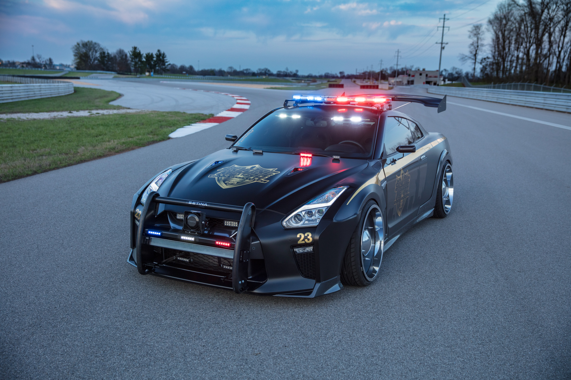 You can't run from the Nissan GT-R Police Pursuit