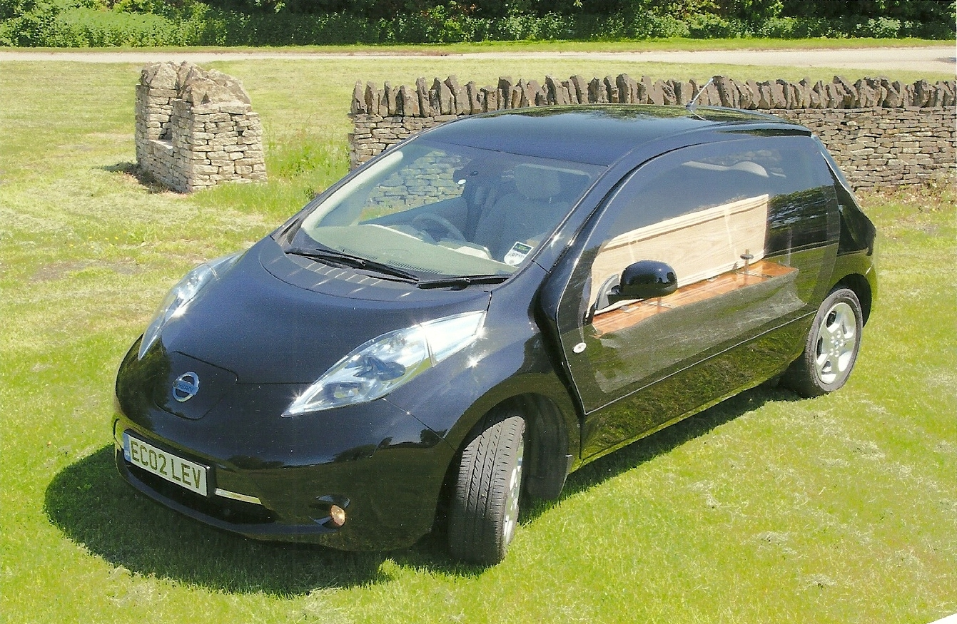 Electric nissan leaf hearse greenest way to travel the last mile vanachro Gallery