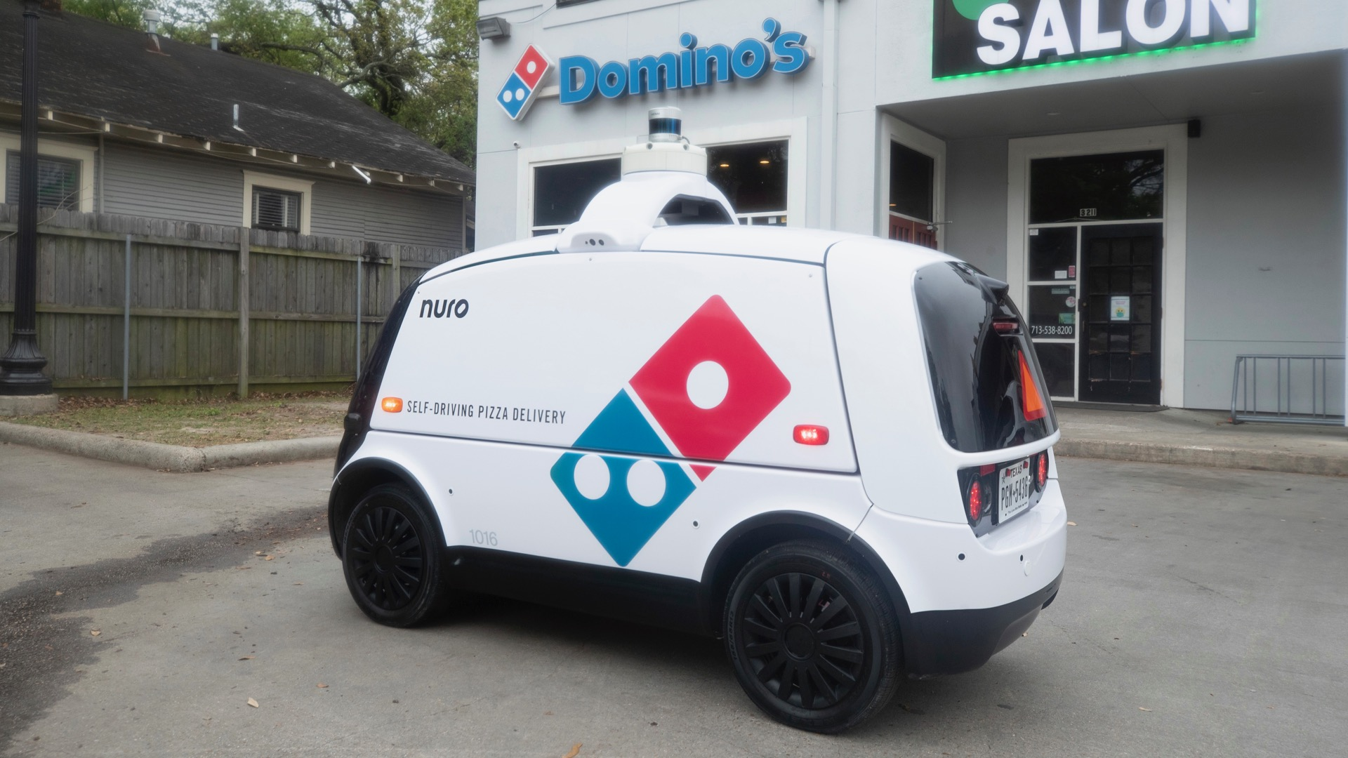 Domino's launches autonomous pizza delivery with self-driving robot car