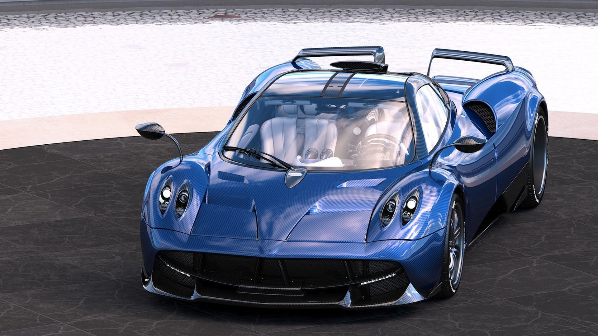 Pagani unveils one off huayra pearl edition for Newspaper wallpaper for sale
