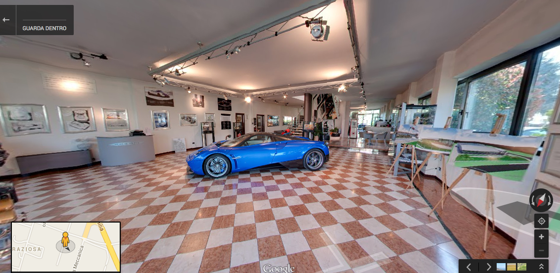 Visit Pagani S Italian Showroom On Google Maps