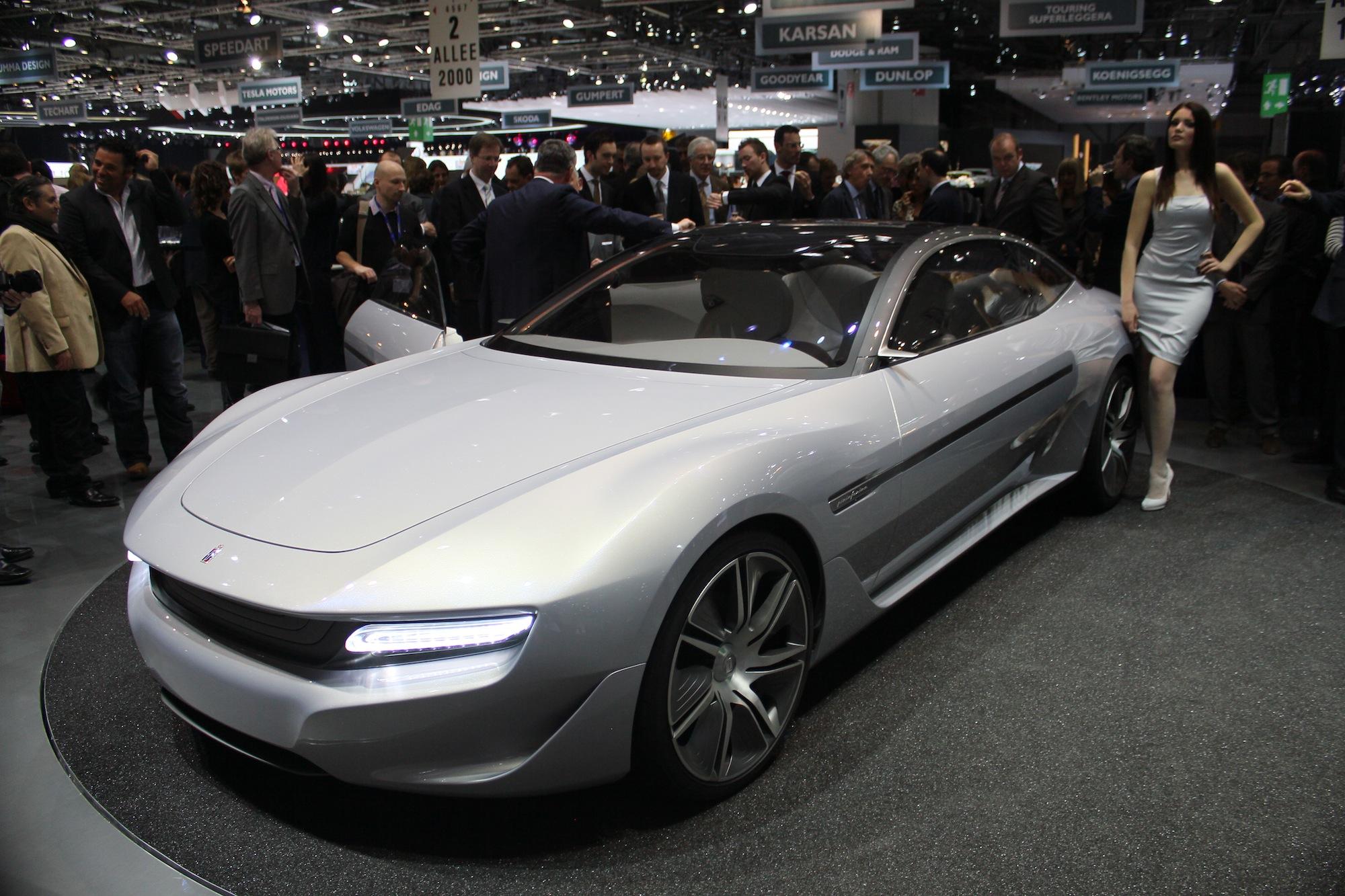 Pininfarina Cambiano Live Photos Geneva Motor Show H on Show Production Companies