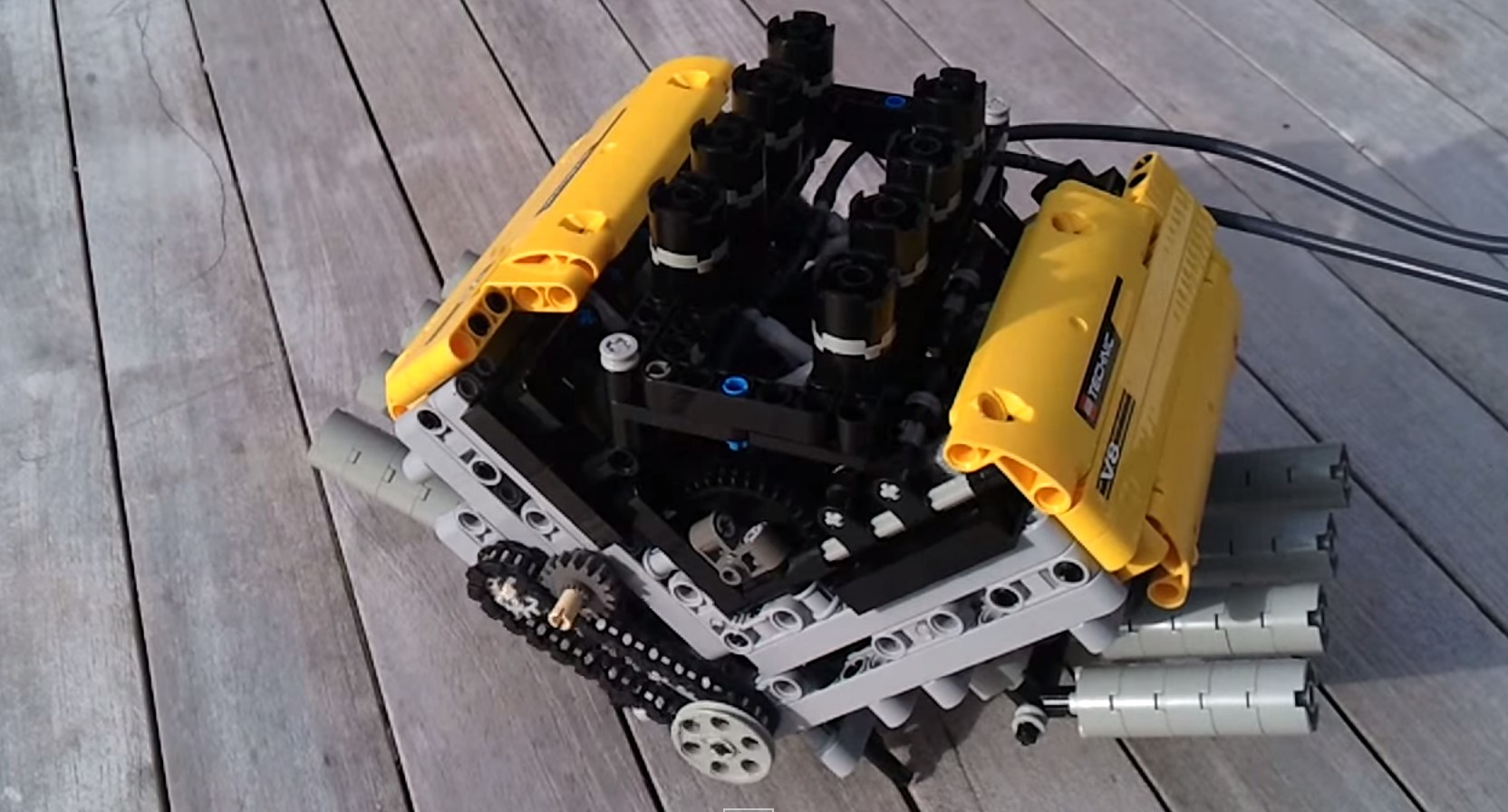Lego V-8 And Six-Speed Sequential Gearbox Are Awesome
