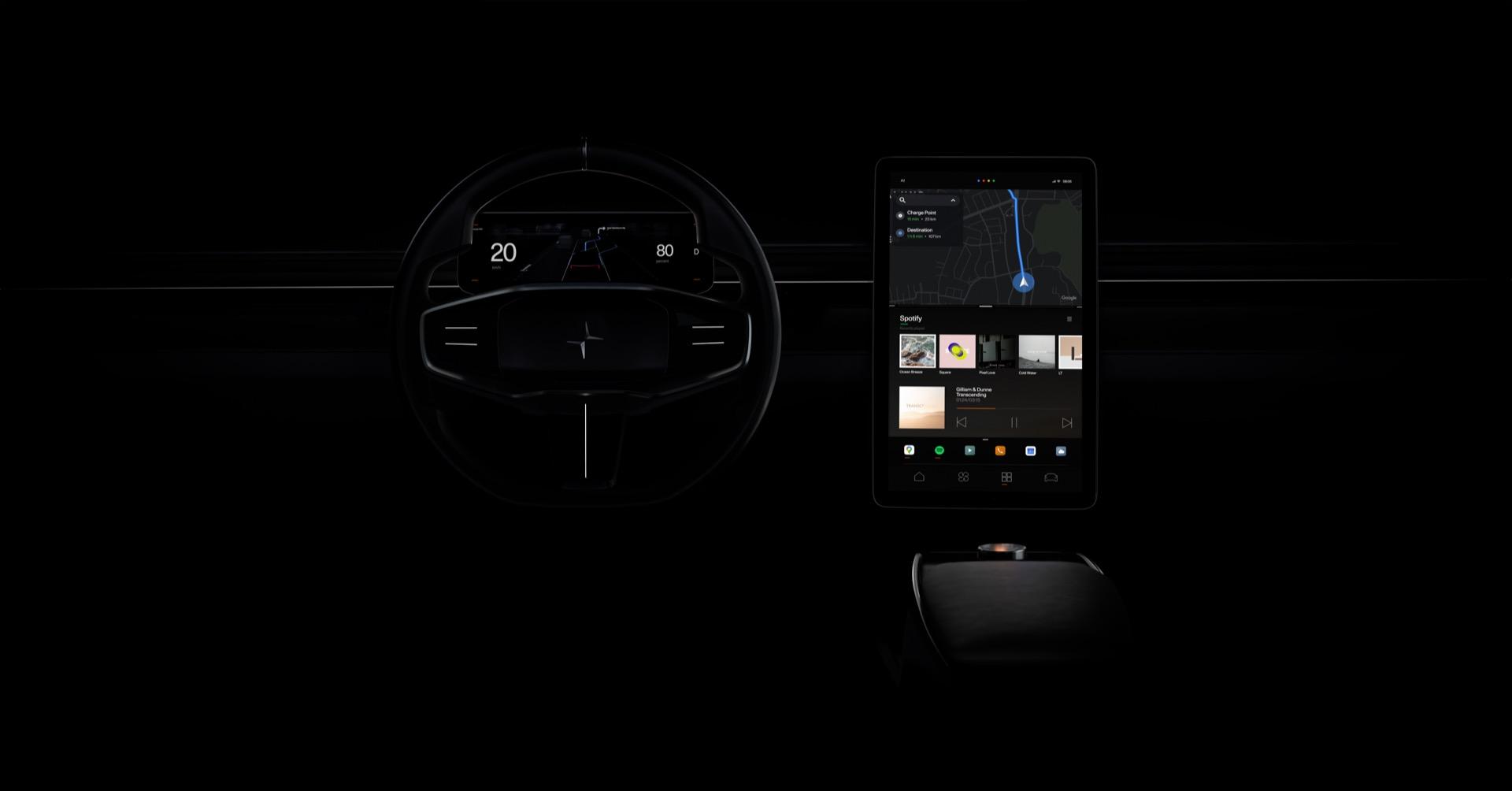 Polestar EV brand shows its future interface beyond the Polestar 2