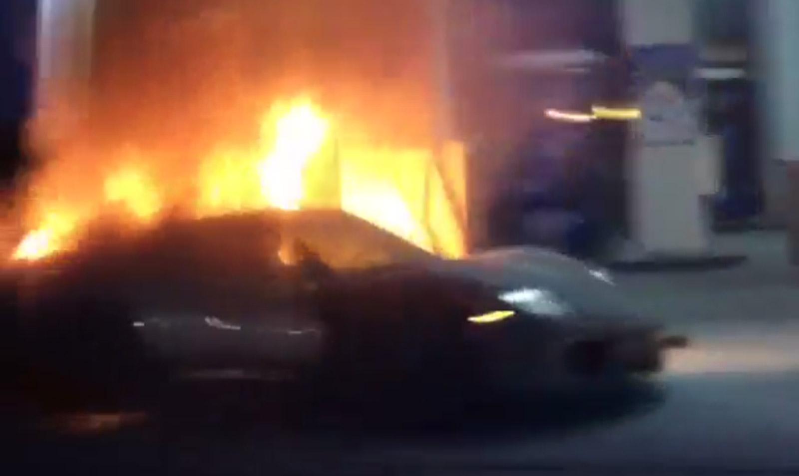 Porsche 918 Spyder Burns To The Ground At Gas Station Video