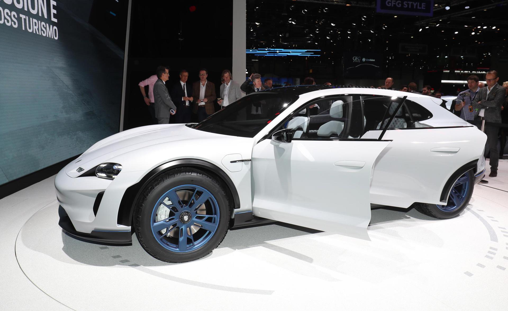 Porsche Rolls Out Mission E Cross Turismo Concept In Geneva