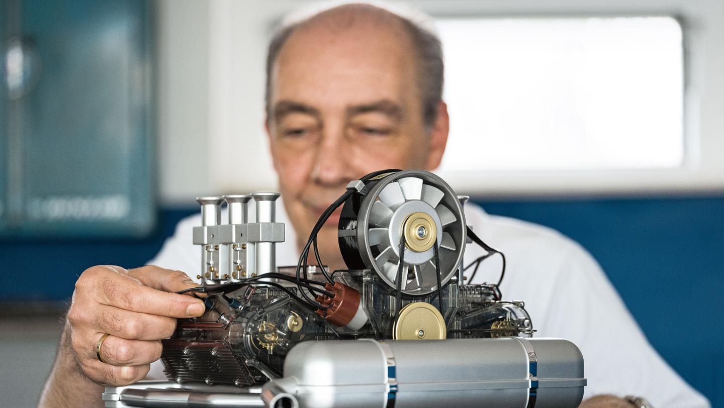 Old Mill Gm >> Porsche has a best seller in its scale-model engine