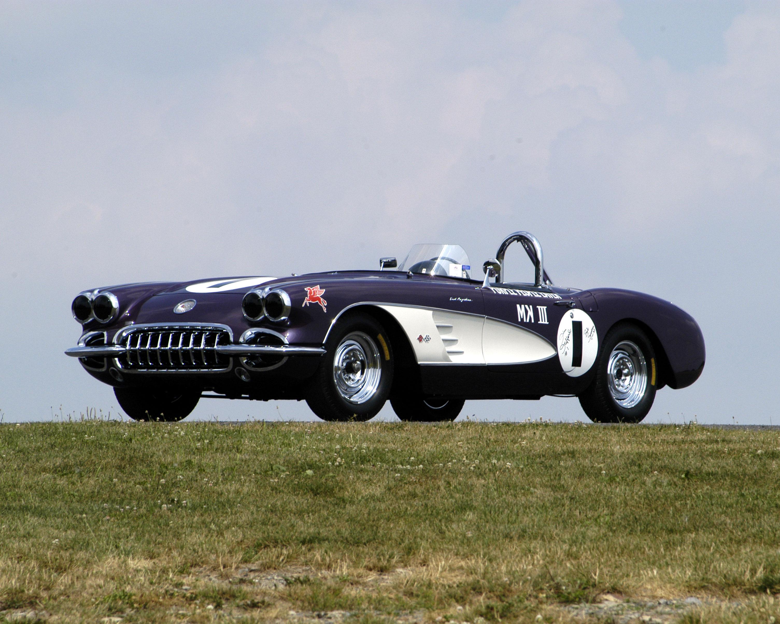 Long-Lost 'Purple People Eater' Corvette Race Car Heads To Amelia Island