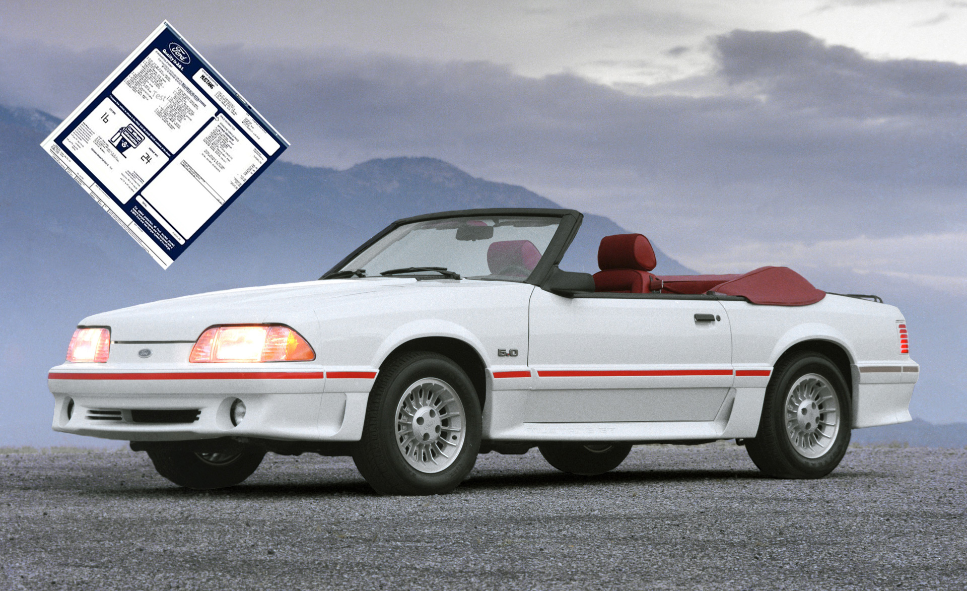 Ford Is Reprinting Window Stickers For Classic Mustangs