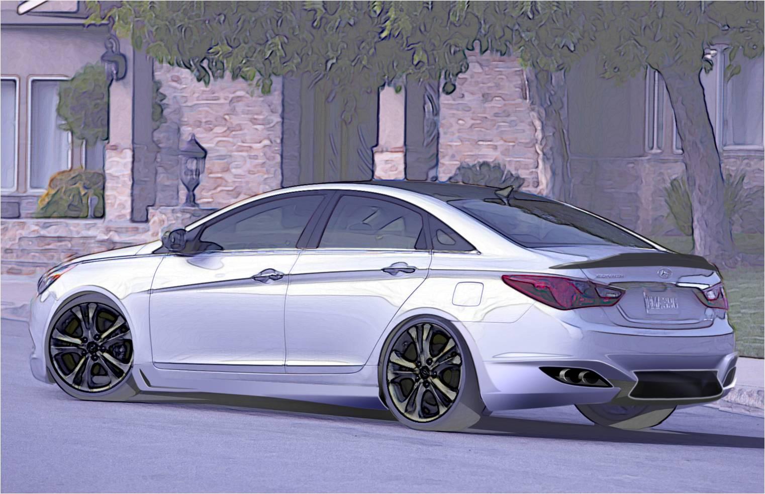 Hyundai Previews Supercar Inspired Sonata Turbo Sema Showcar