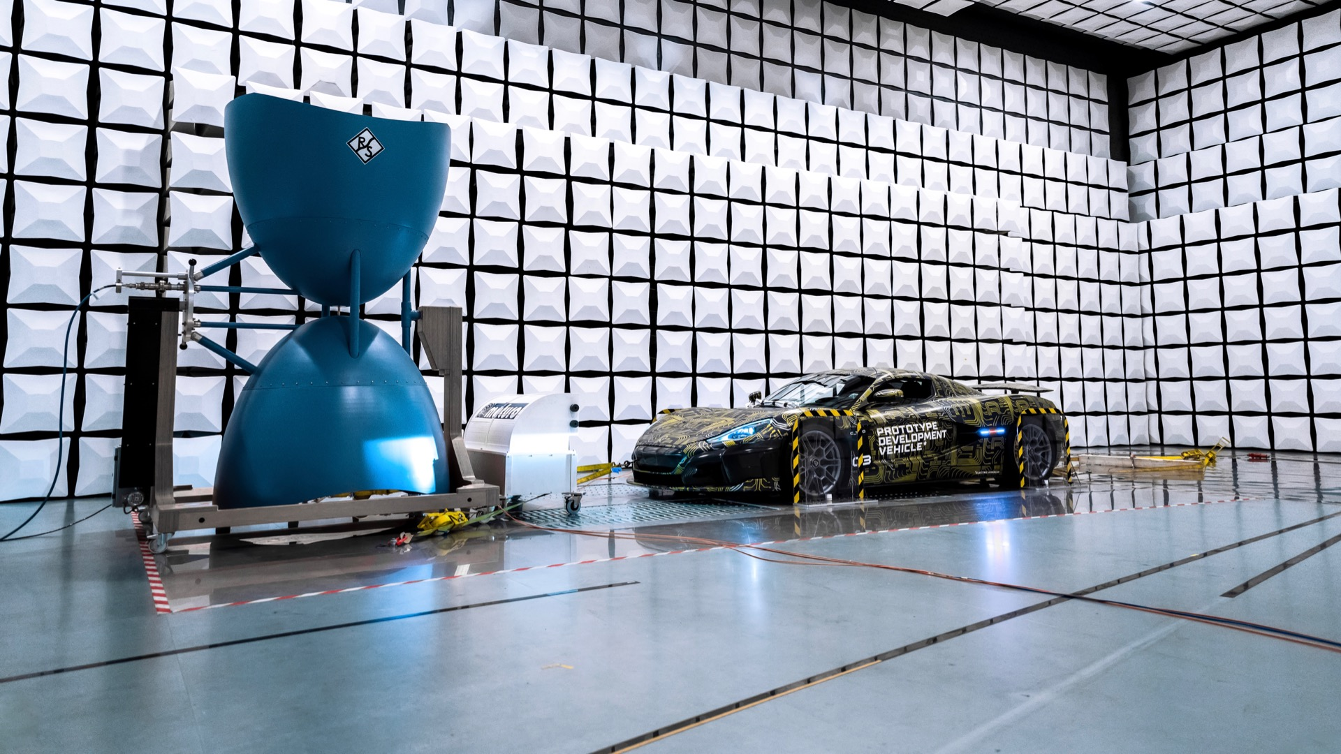 Rimac shows how electric cars are tested for electromagnetic emissions with C_Two hypercar