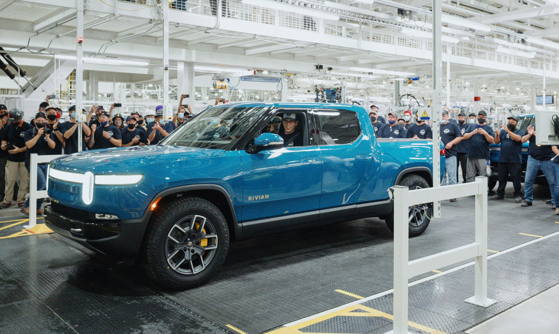 First production Rivian R1T silently rolls off assembly line, customer deliveries imminent