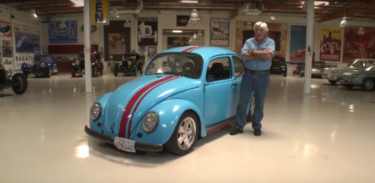 Jay leno drives a rotary powered volkswagen beetle for Garage volkswagen biarritz