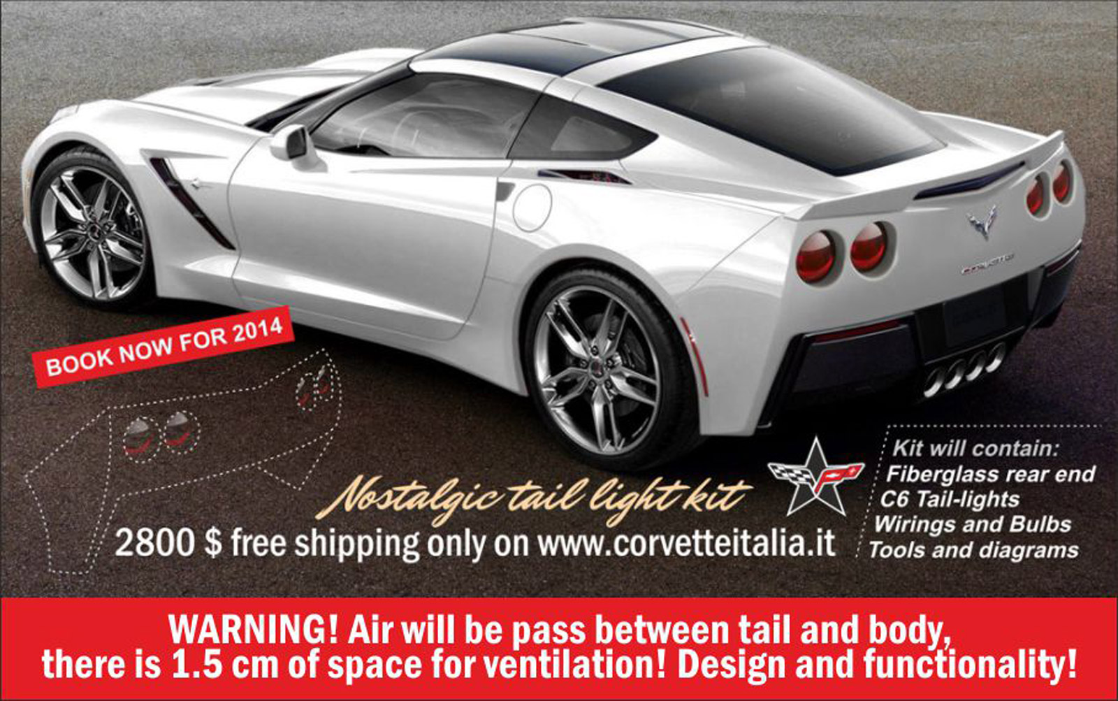 Fans Design Round Tail Light Kit For 2014 Chevrolet Corvette