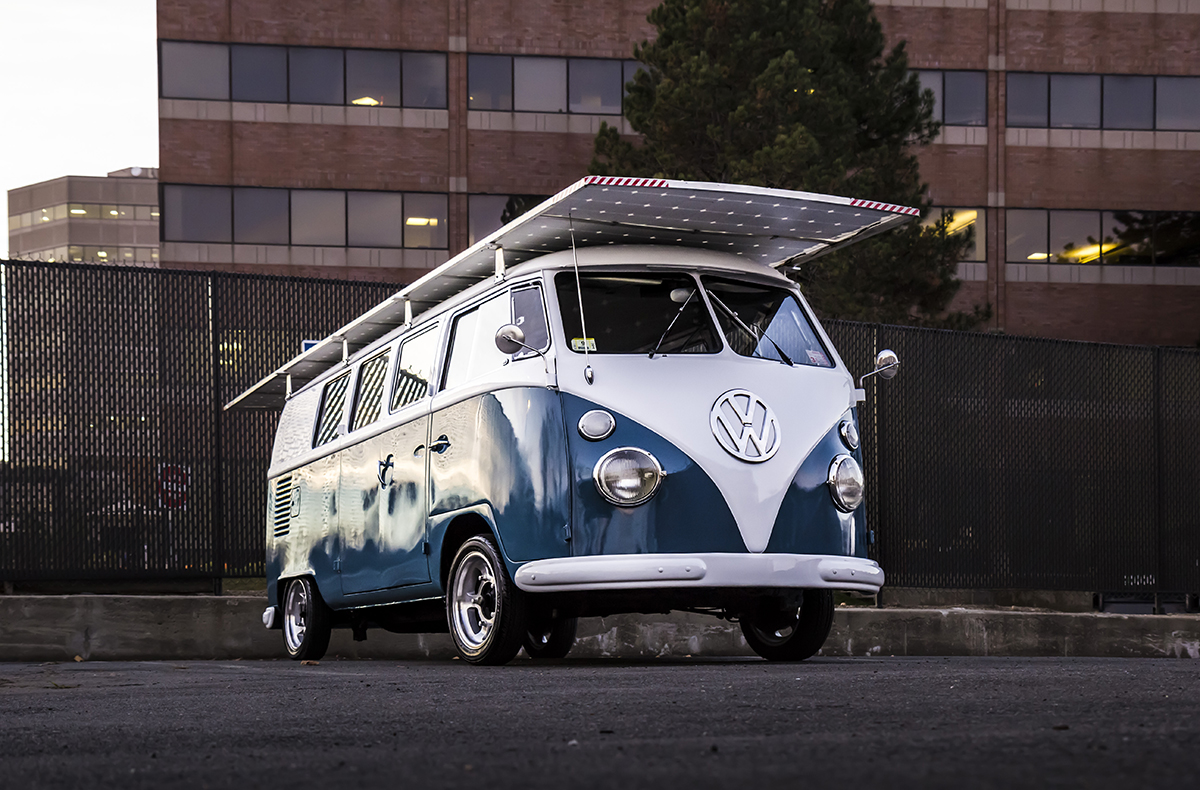 Honda Clarity 2018 >> Classic 1966 VW Bus With Green Drivetrain: Solar-Powered Electric Motor