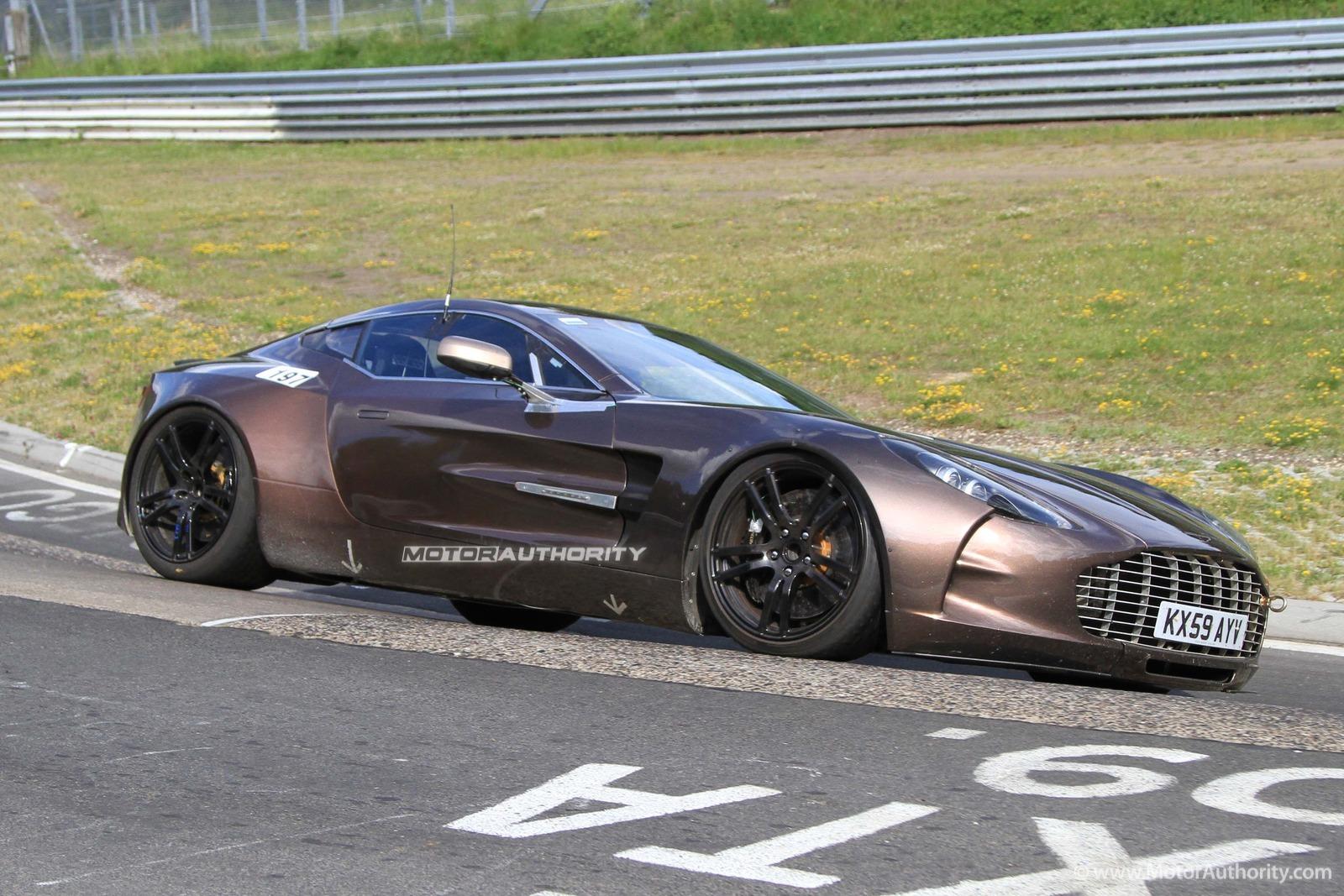 Spy Shots Aston Martin One 77 Testing At The Nurburgring