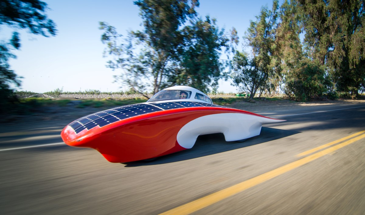 Luminos Solar Electric Car For Australian Race Cruises At