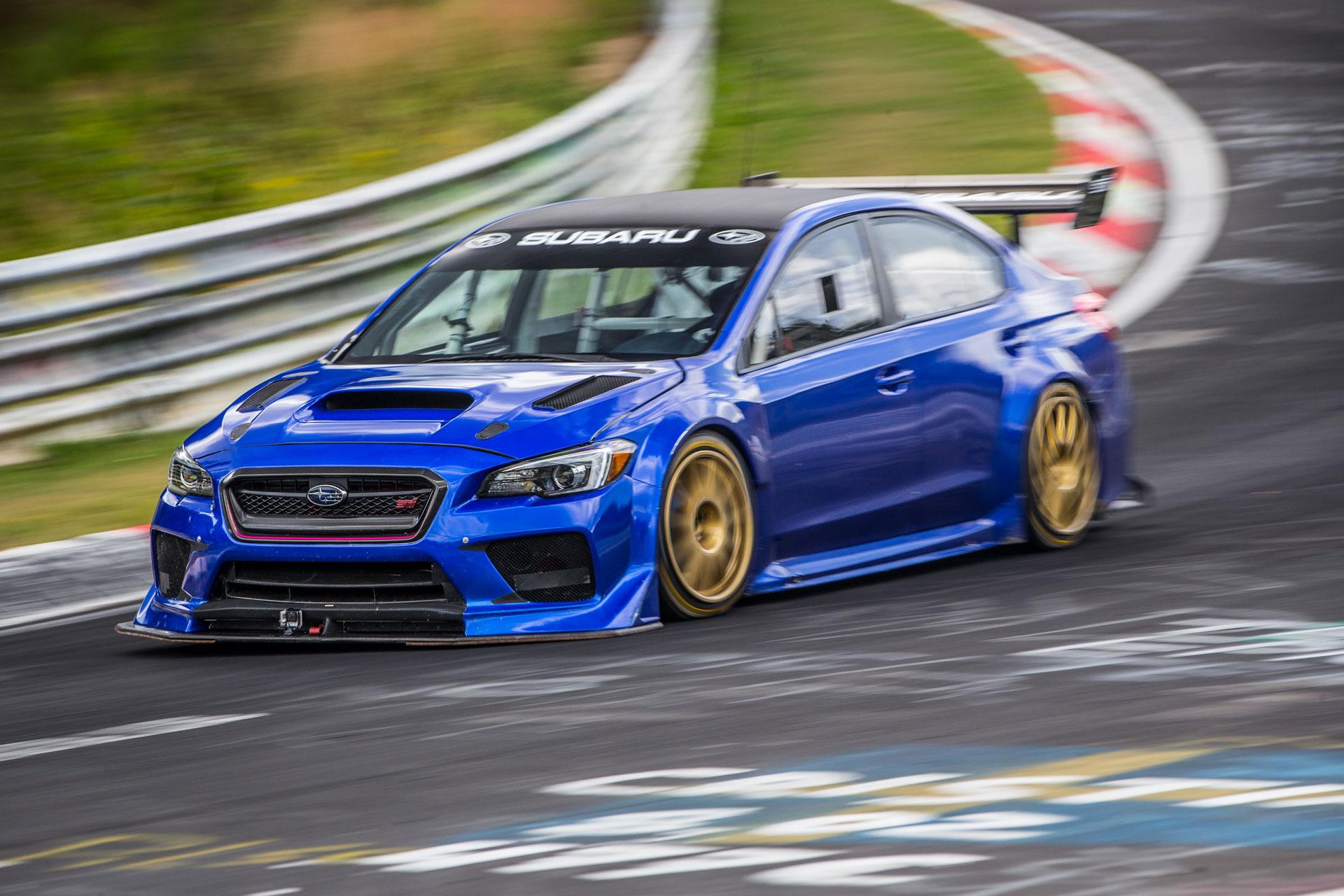 Subaru WRX STI Type RA NBR claims Nürburgring sedan record with 6