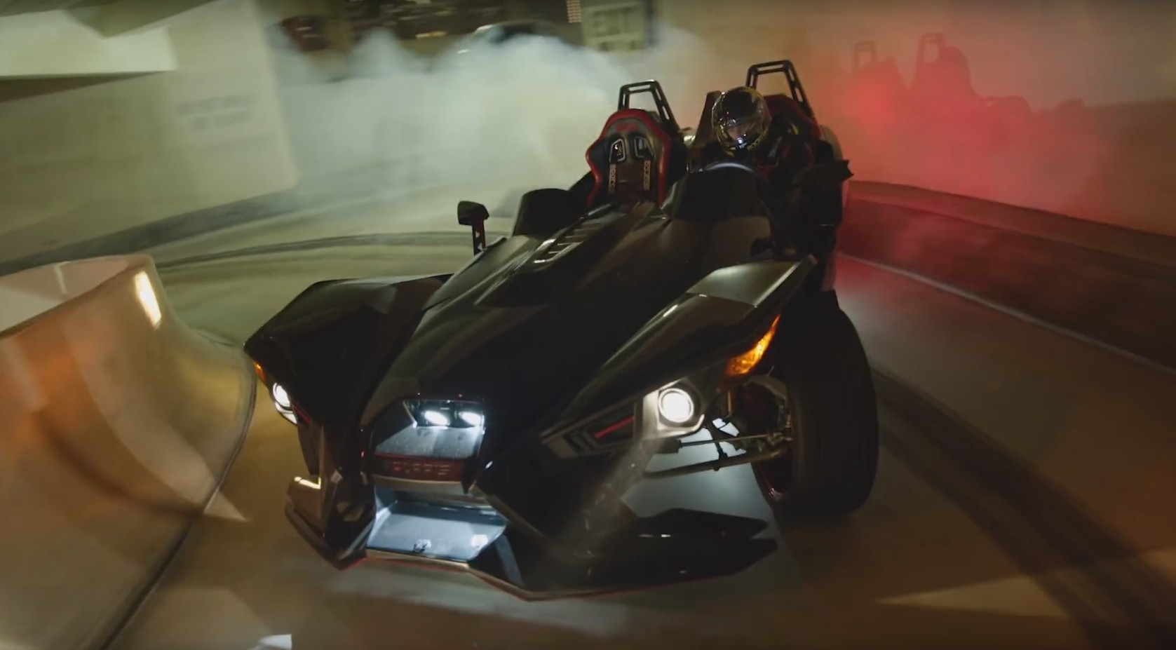 Tanner Foust rampages all over San Diego in a Polaris Slingshot
