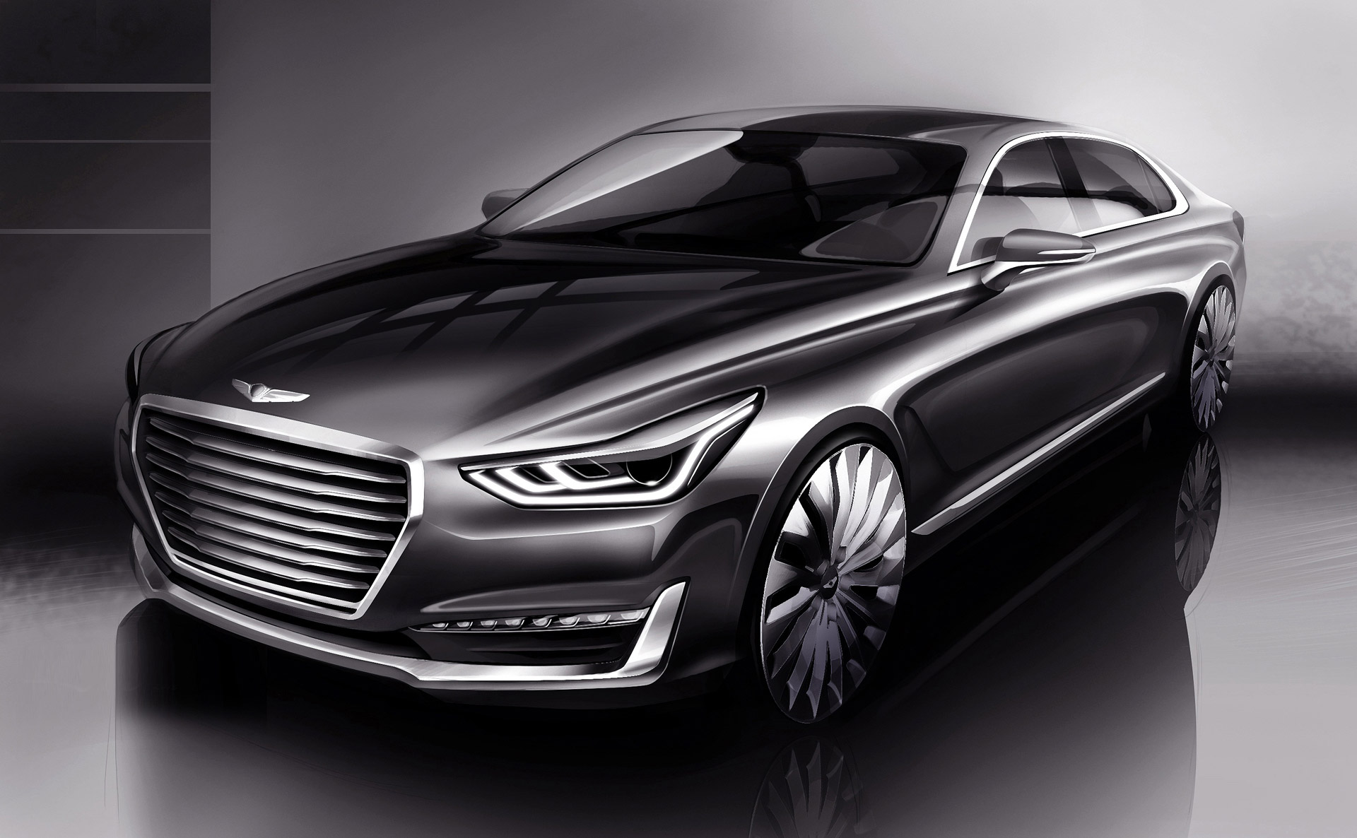 Genesis Car Logo >> Genesis G90 The Replacement For The Hyundai Equus Teased