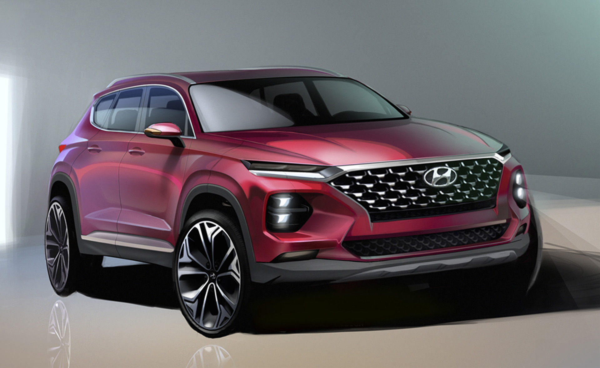2019 Hyundai Santa Fe teased ahead of Geneva debut