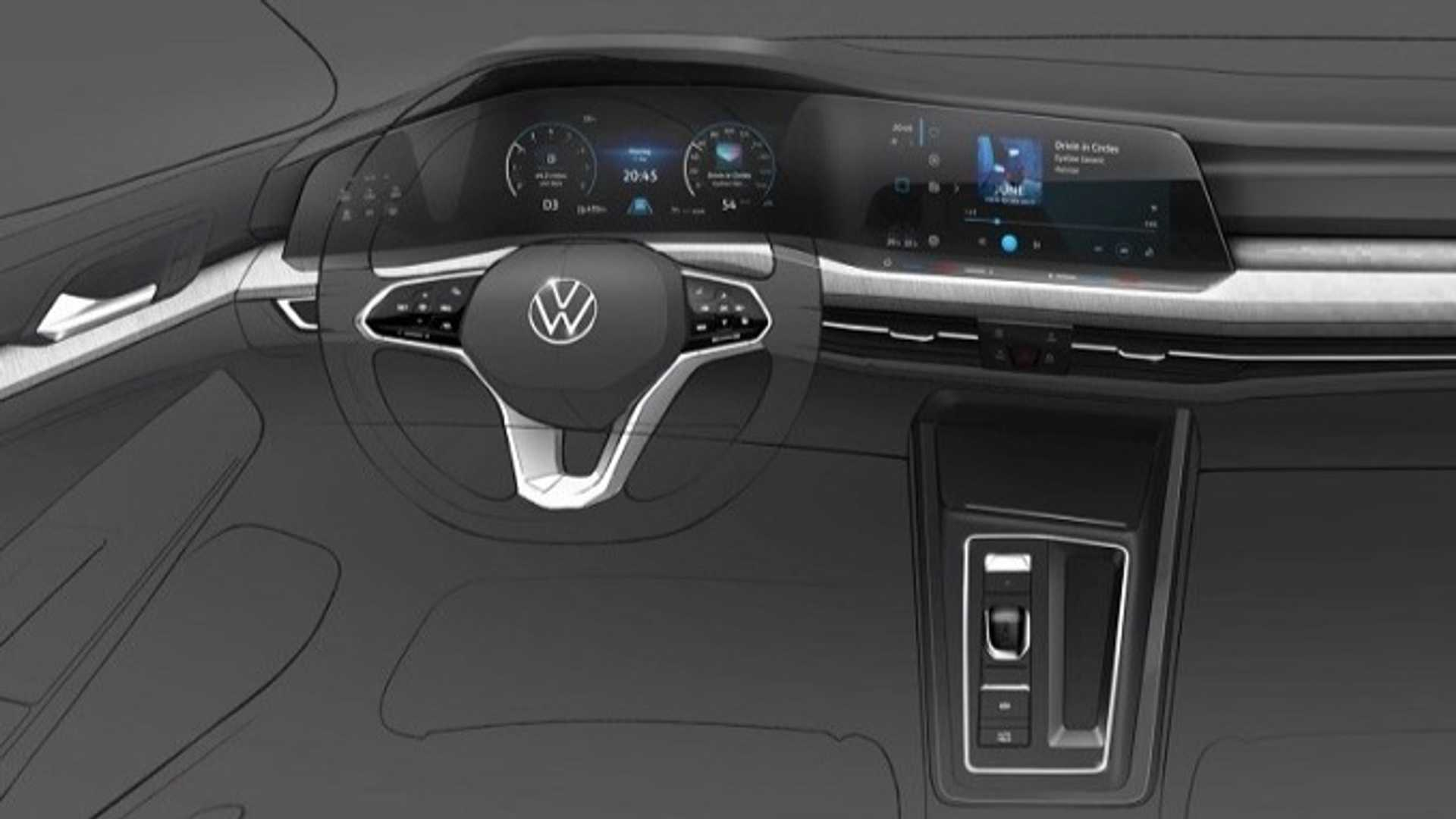 New Vw Golf S Digital Dash Previewed