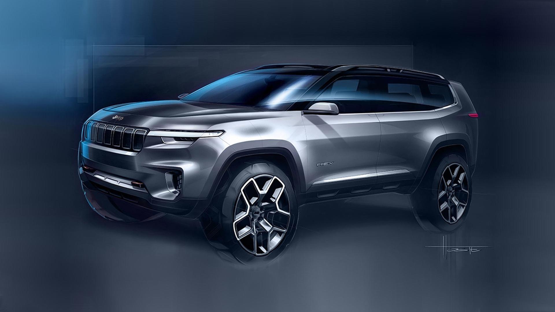 Jeep teases a hybrid concept for the 2017 Shanghai auto show
