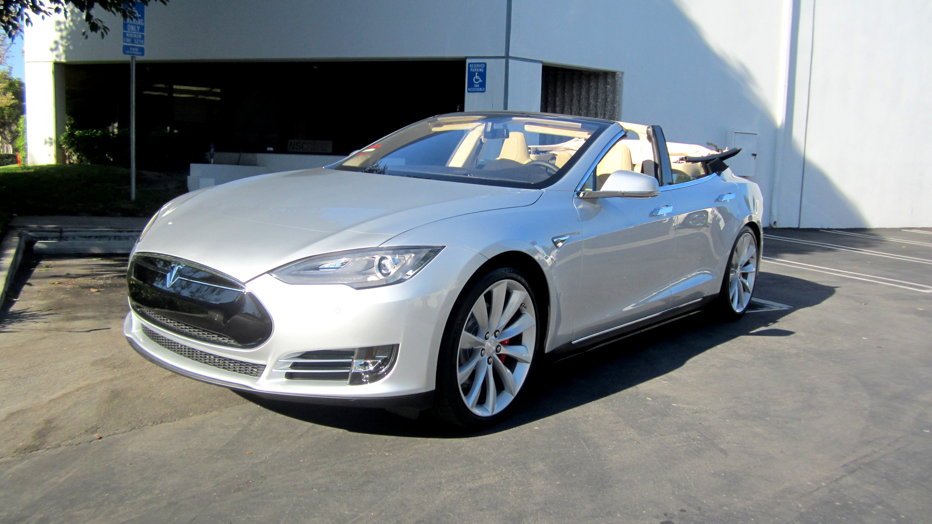 Tesla Model S Convertible Is Real, And It\'s On eBay: Video