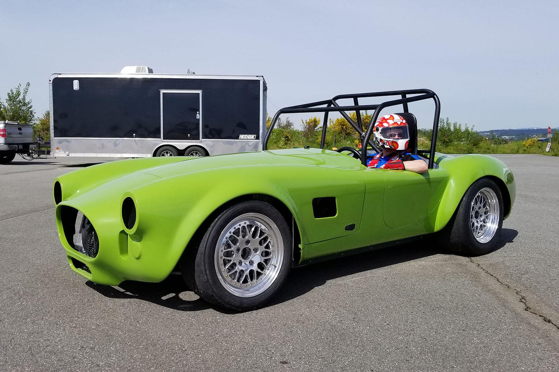 Tesla motor, Shelby Cobra body, Kia battery: watch electric Cobra ...