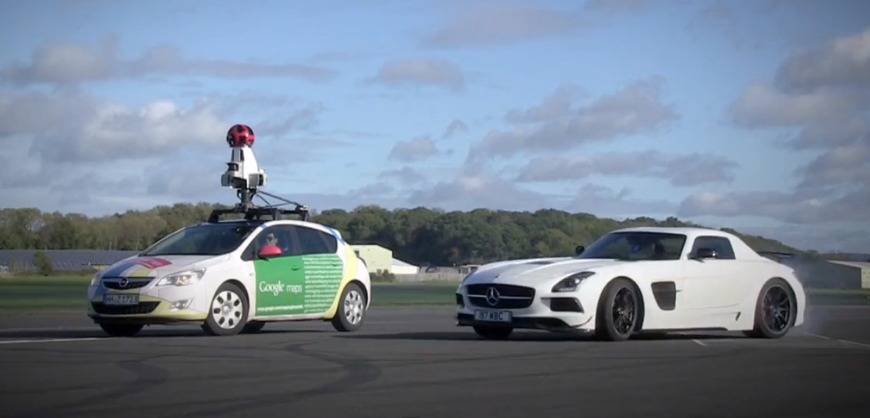 Watch The Stig Do Donuts Around A Google Street View Car