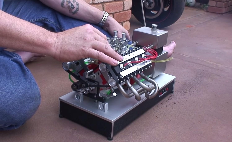 Tiny V 8 Nitro Engine Looks Sounds Amazing Video