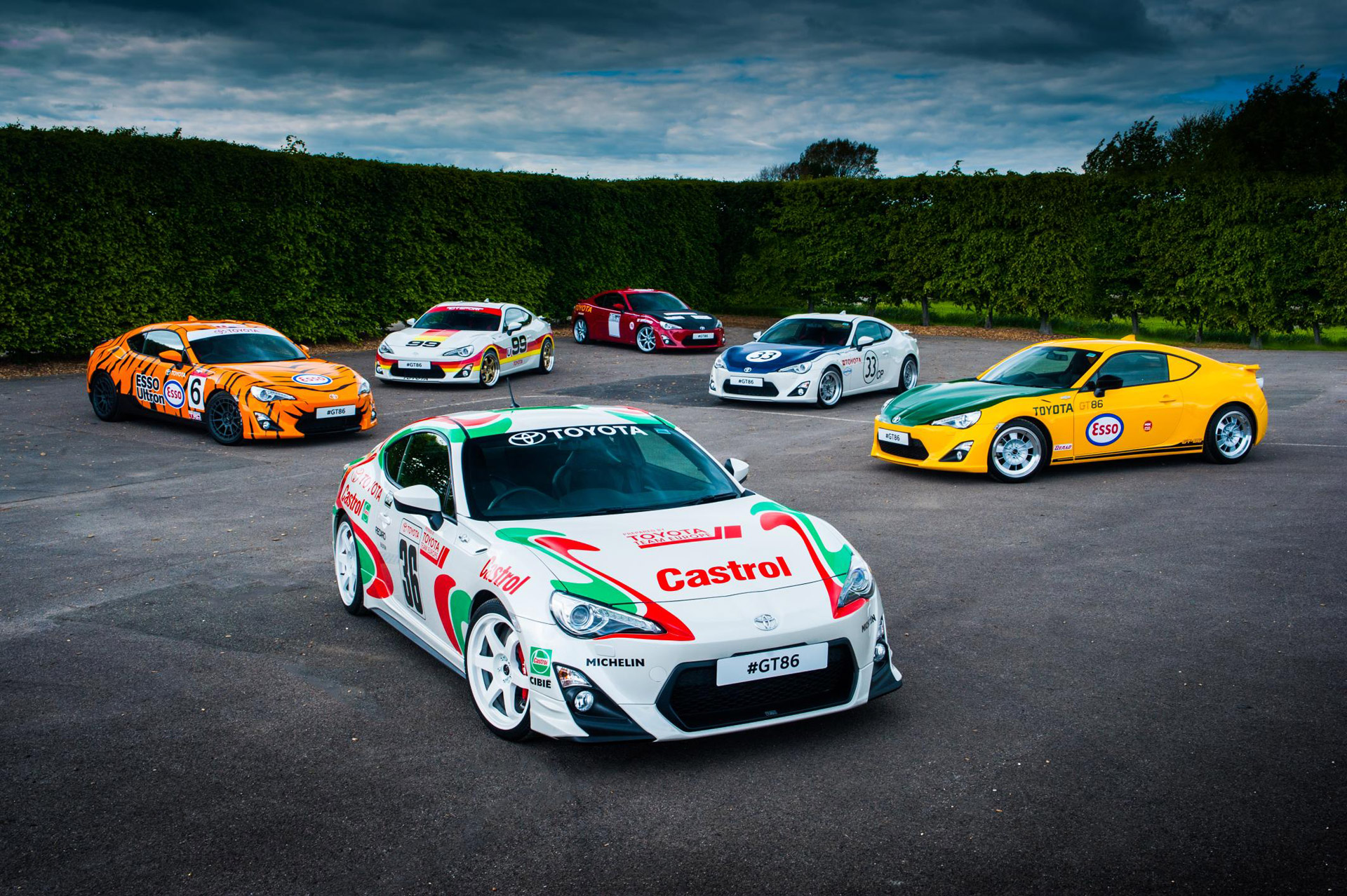 Toyota Pays Tribute To Classic Sport Cars With Special Liveries At - Sports cars gt