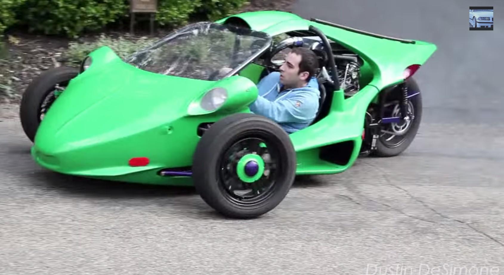Turbo Hayabusa T Rex Three Wheeler Looks Like Suicidal Fun