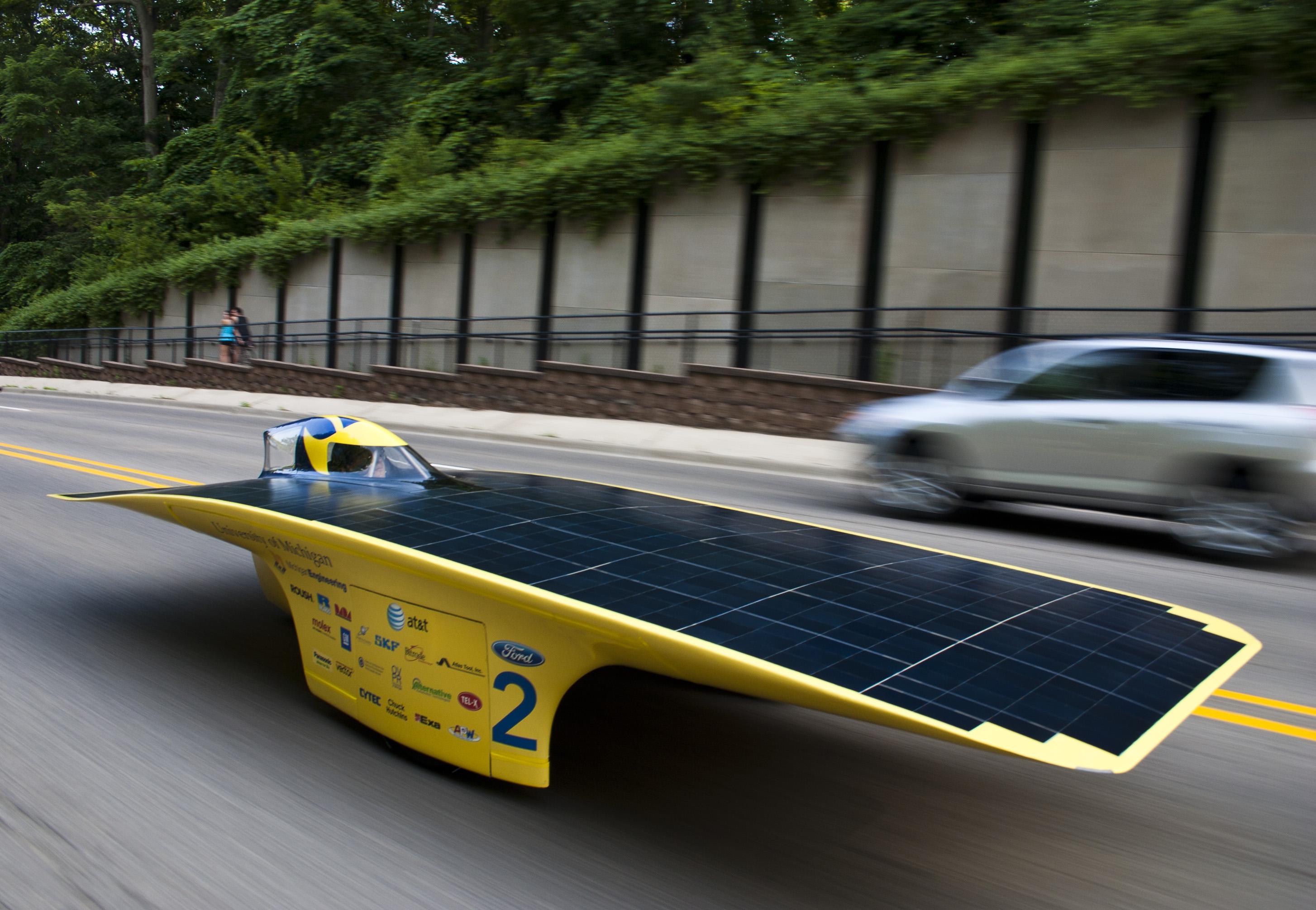 University Of Michigan S Quantum Solar Racer Laps Michigan