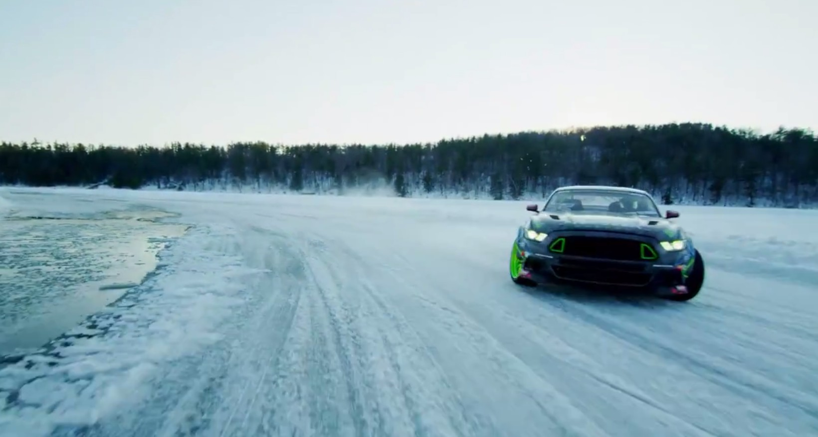 Vaughn Gittin Jr Goes Ice Drifting In His New Mustang Rtr Video