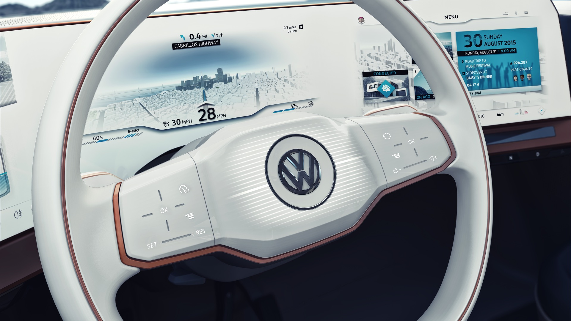 VW Electric Car Plans Ford Fiesta Cities Ban Diesels Todays - Vw car show las vegas
