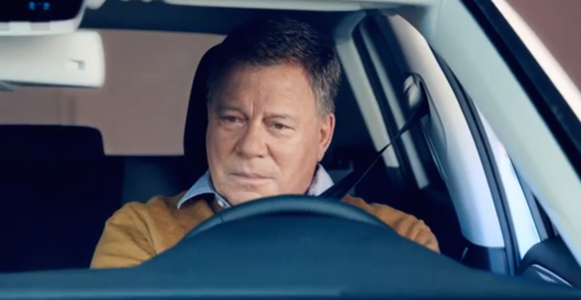 captain kirk  spock discuss vw electric cars   ad  german