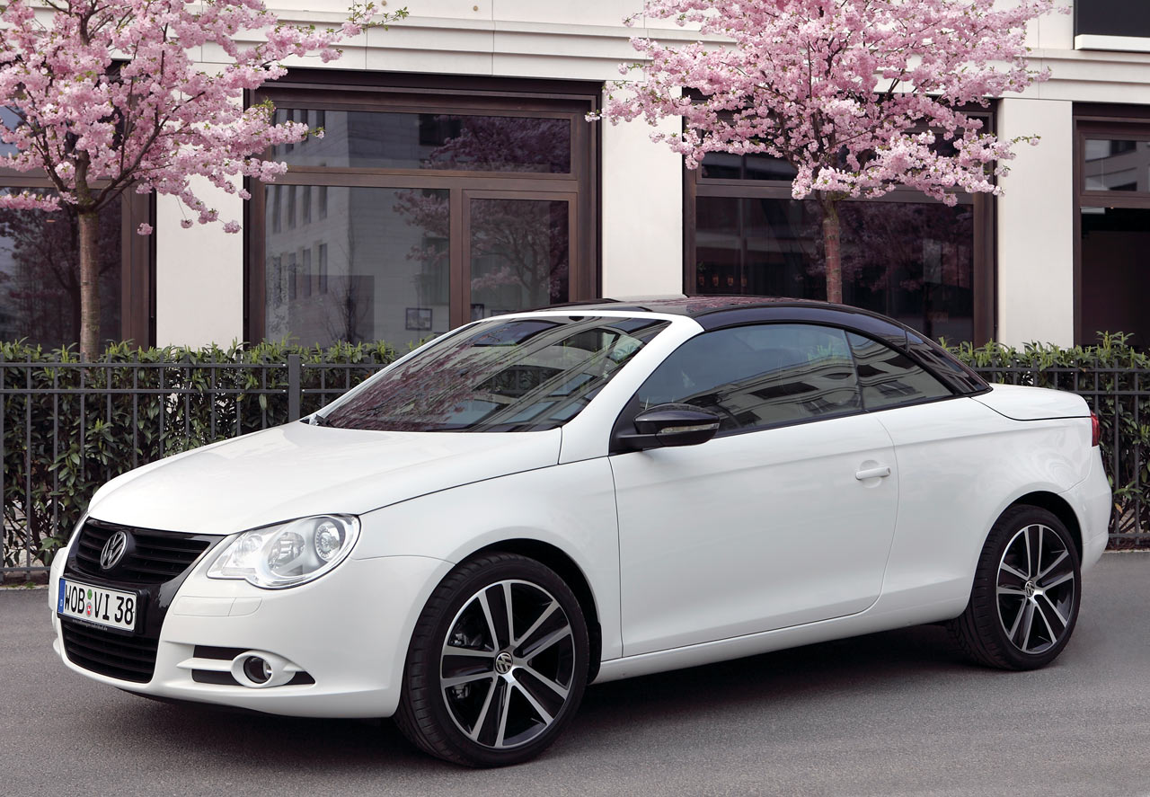 the new minimalism volkswagen eos white knight edition. Black Bedroom Furniture Sets. Home Design Ideas