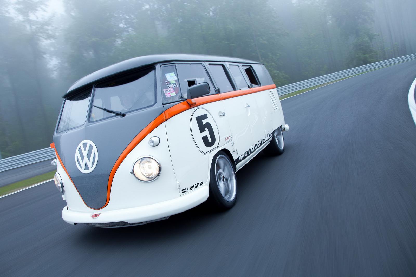 Hyundai Spy Shots >> Porsche-Powered Volkswagen Bus 'Race Taxi' Debuts At Wörthersee