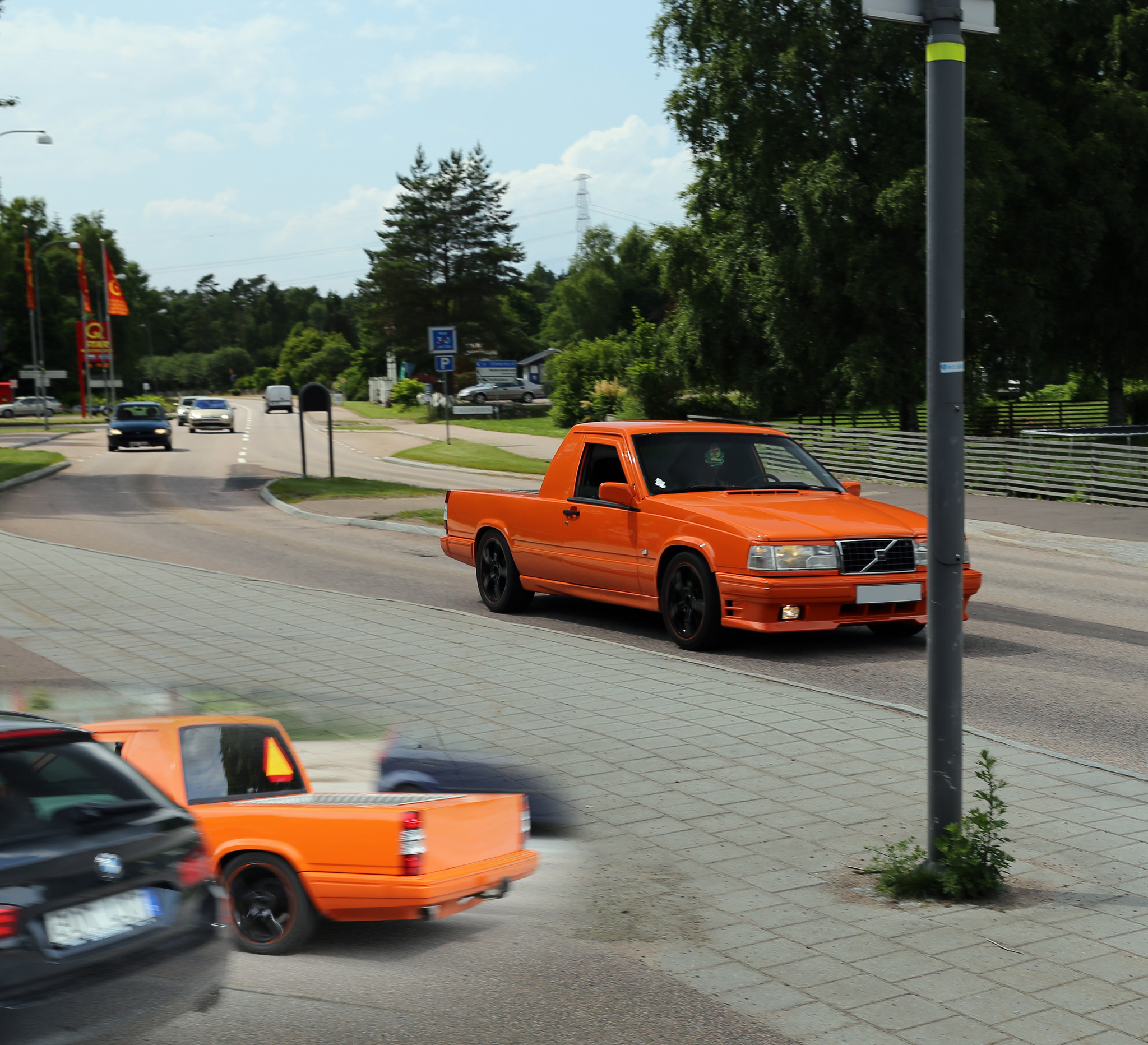 Orange Jeep Truck >> How young Swedes learn to drive: on 'tractors' that are cut-down cars