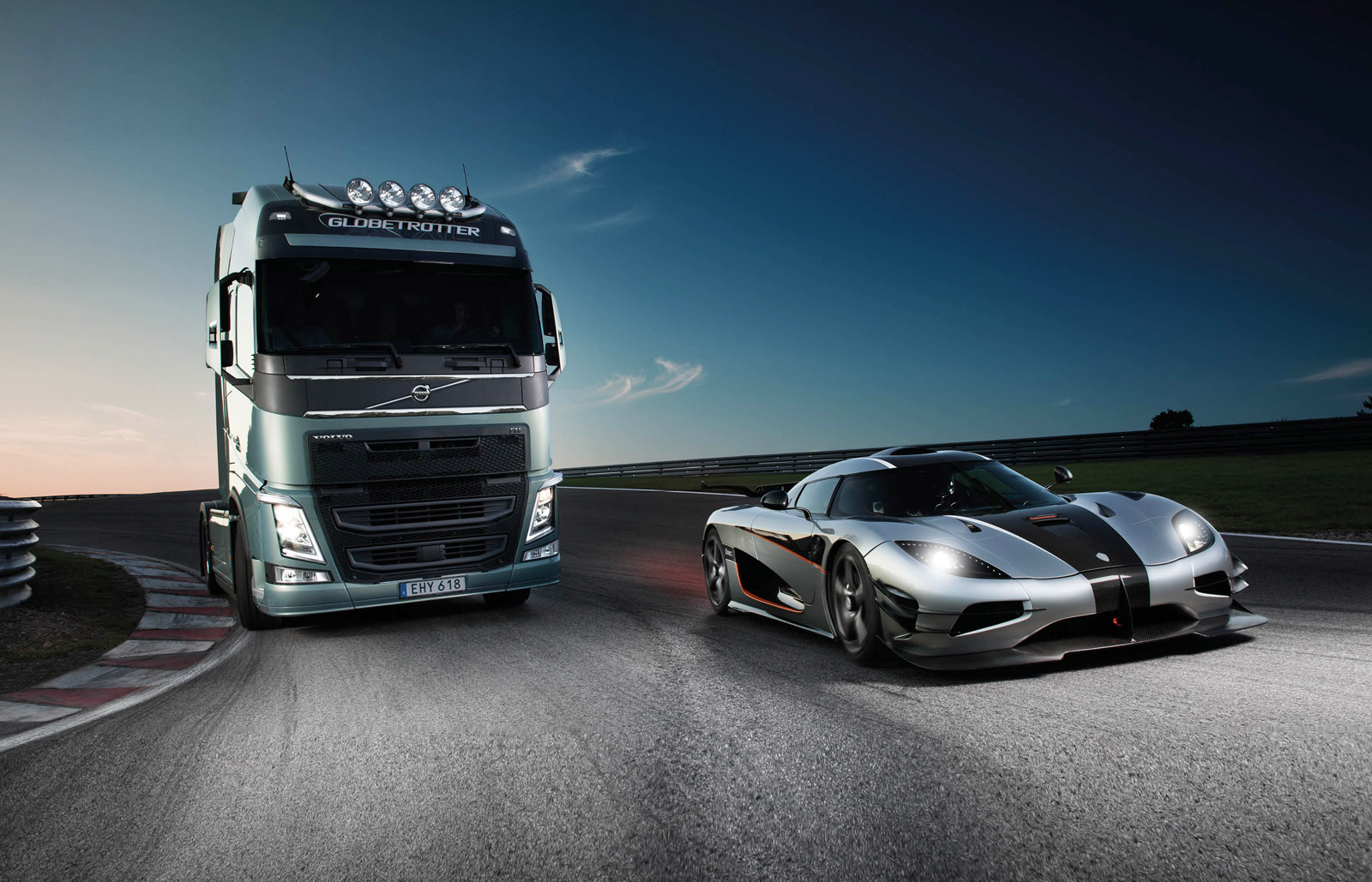 volvo fh and the koenigsegg one1 100489600 h