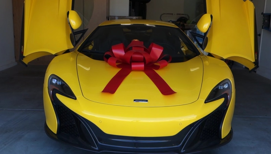 Wife surprises husband with McLaren 650S