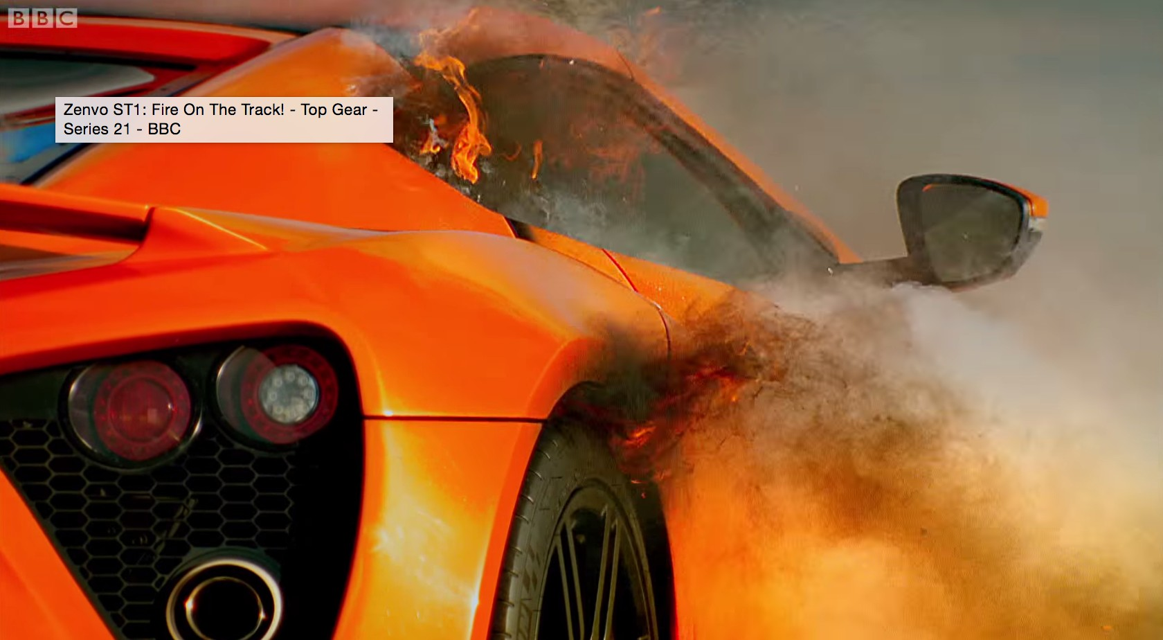 Zenvo Proves Supercar Cred With Raging Fire On Top Gear Video