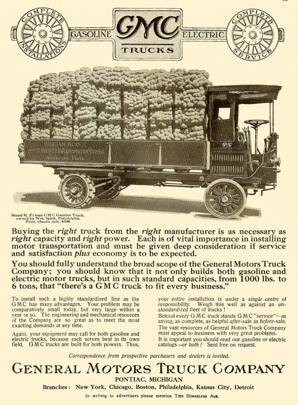 1912 GMC truck advertisement