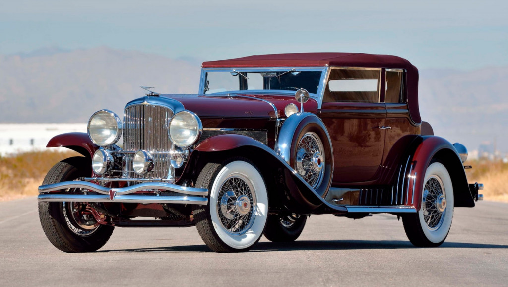 1930 Duesenberg Model SJ Rollston Convertible Victoria - Image via Mecum