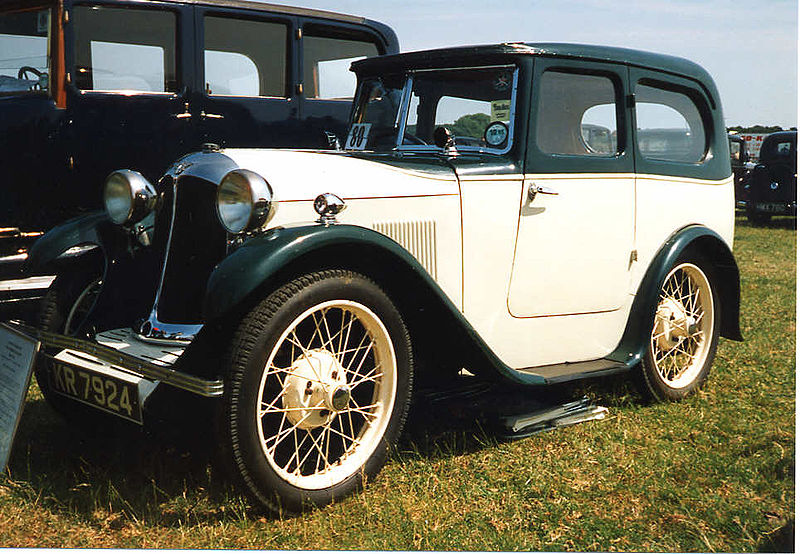 1931 Austin 7 with Swallow coachwork. Photo by Malcom Asquith, licensed under CC by 2.0