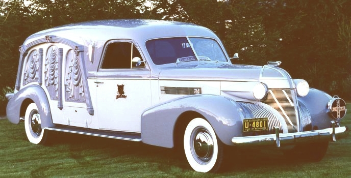 1939 Cadillac Carved-Panel Hearse by Sayers and Scovill