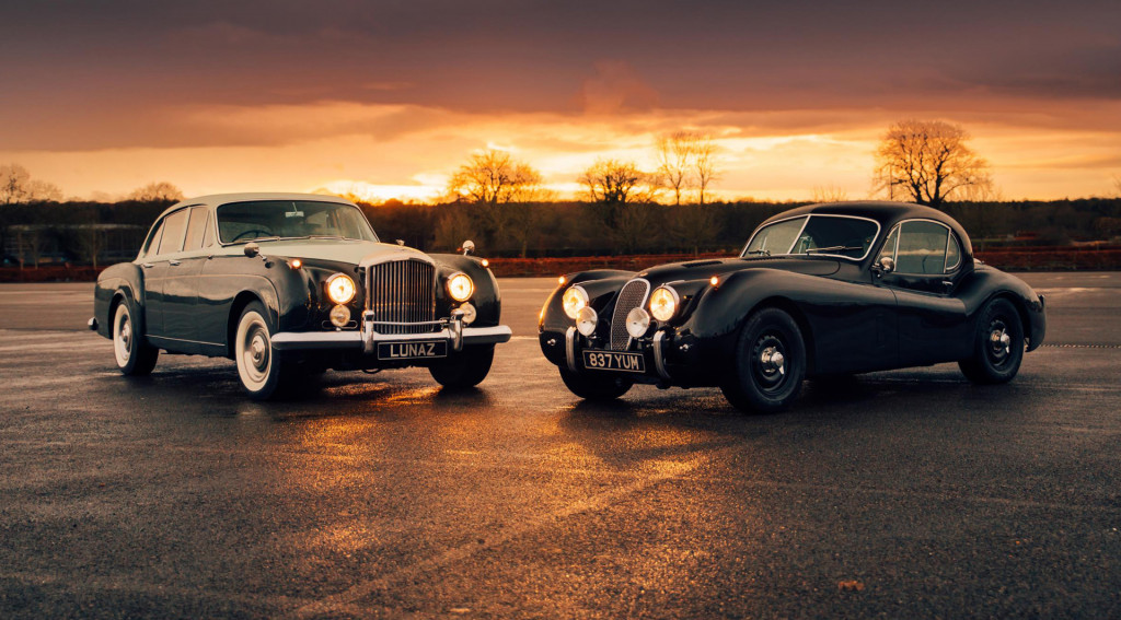 1961 Bentley S3 and 1953 Jaguar XK120 EV conversion by Lunaz
