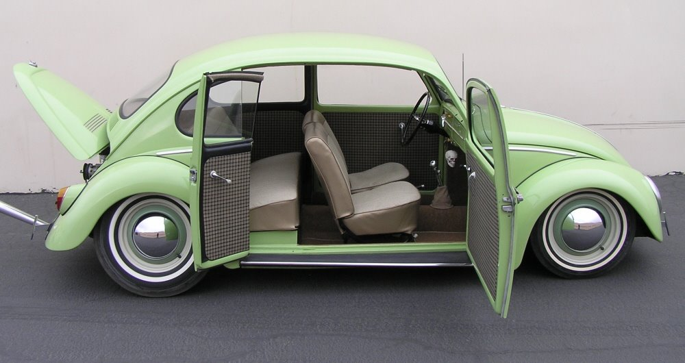 1965 VW Beetle with suicide door & Link Love From The Car Connection: MINI Es Arrive Beetle Up For ... Pezcame.Com