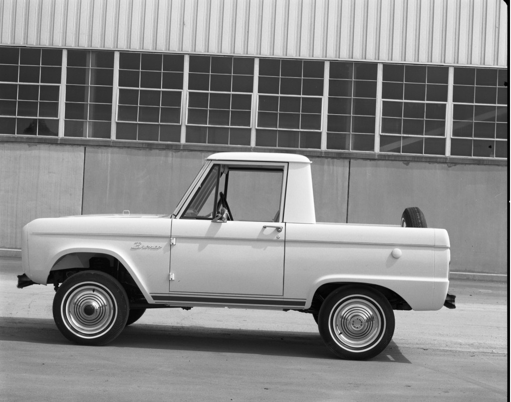 1966 Ford Bronco two-door half-cab
